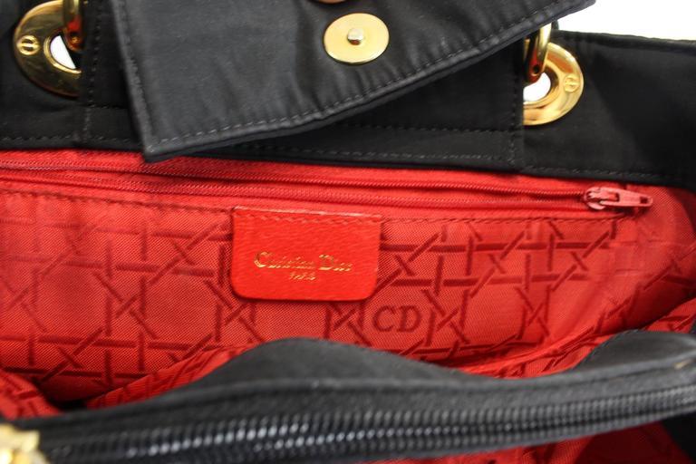 Vintage Nylon Lady Dior Tote Bag 8