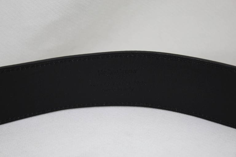 Yves Saint Laurent Patented Leather Belt 2