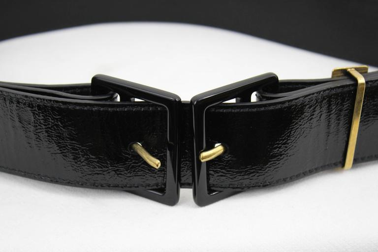 Yves Saint Laurent Patented Leather Belt 3