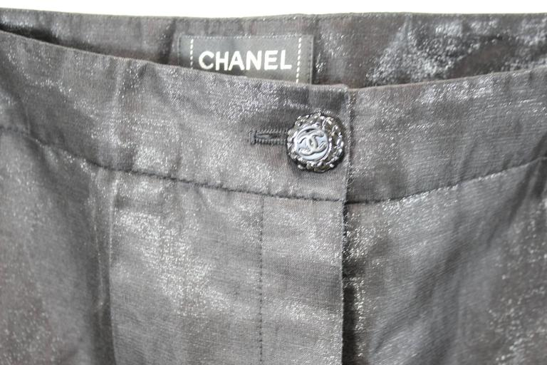 Women's Chanel 2009 Cruise Collection Smokin Style Shiny Trousers For Sale