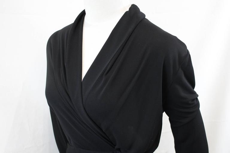 Yves Saint Laurent Black Dress with Closing Ribbon. Size S 4