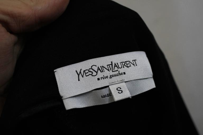 Yves Saint Laurent Black Dress with Closing Ribbon. Size S For Sale 1
