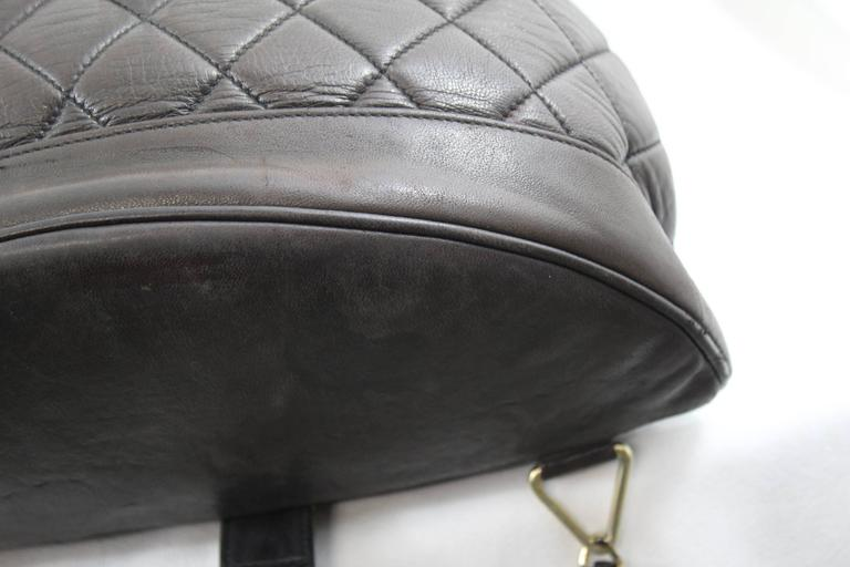 Chanel Vintage Brown leather Backpack 5