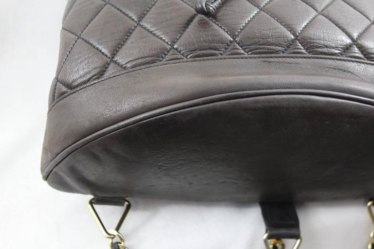 Chanel Vintage Brown leather Backpack 7