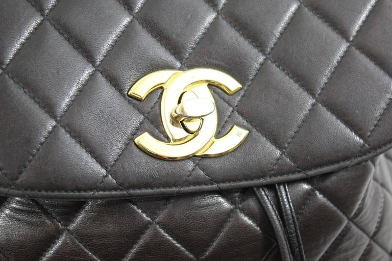 Chanel Vintage Brown leather Backpack 9