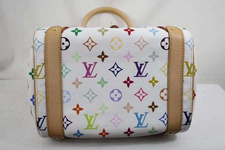Louis Vuitton Priscilla Multicolore Canvas Bag. 4