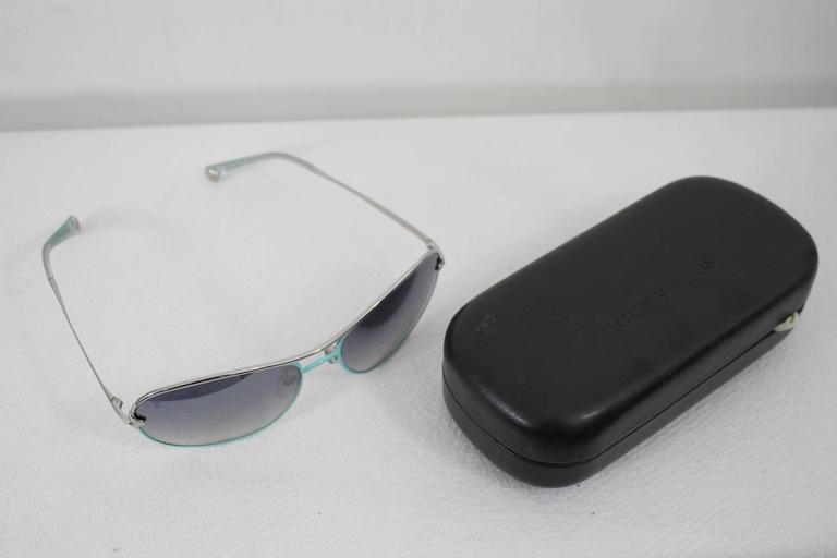 9459575948 Gray Louis Vuitton Steel Turquoise Sunglasses with Box For Sale