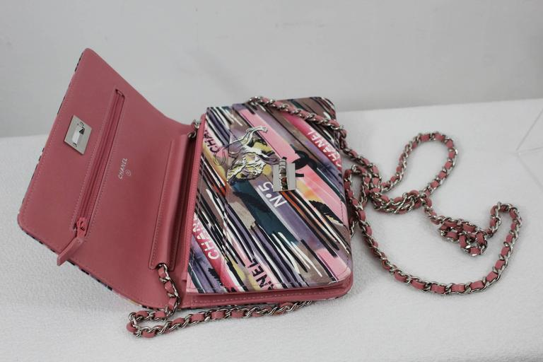 Chanel Runway Sample Wallet on Chain (WOC) in Ppink Leather  3