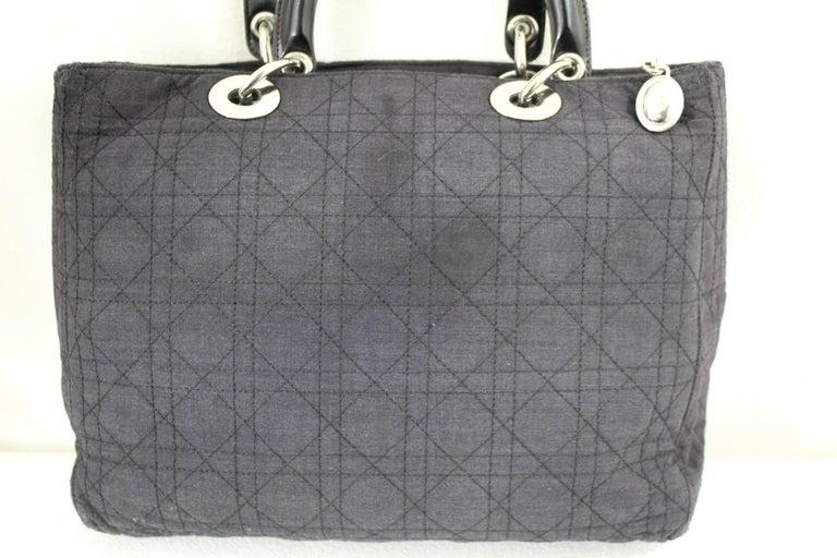 ac373d9be7d2 Women s Vintage Christian Dior Lady Dior Canvas bag. fair condition For Sale