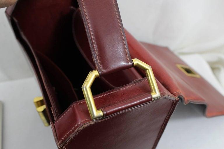 d1aade5b1886 24 Fbg St Honoré Vintage Hermes Burgundy leather Bag For Sale at 1stdibs