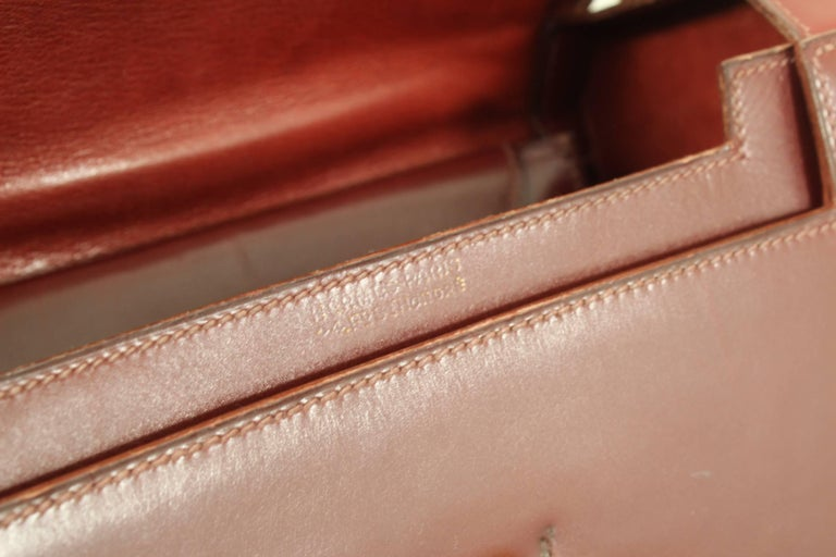5396b9482a08 Women s or Men s 24 Fbg St Honoré Vintage Hermes Burgundy leather Bag For  Sale