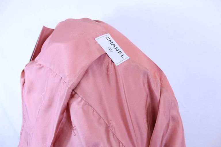 Chanel Pink Leather jacket Size 40 In Good Condition For Sale In Paris, FR