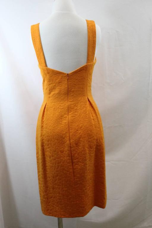 Balenciaga Dress, Jacket and Belt. Orange  Croco Pattern. Size EU 40 2
