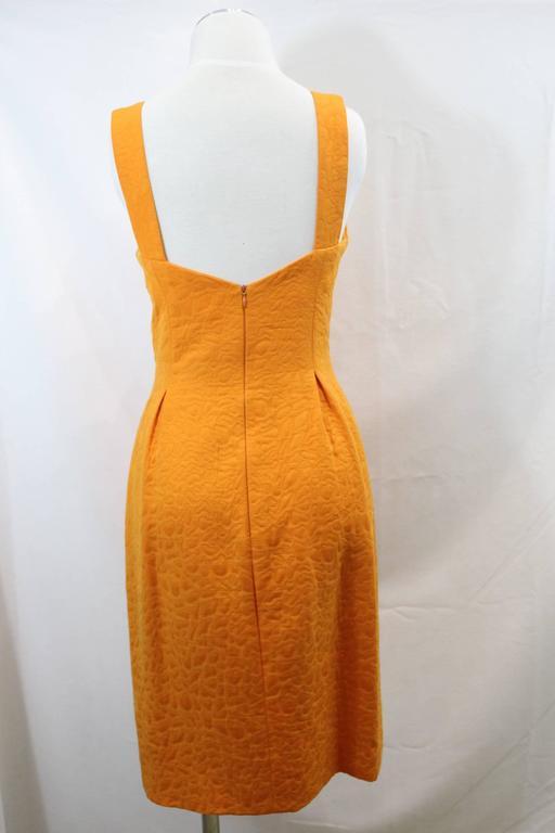 Balenciaga Dress, Jacket and Belt. Orange  Croco Pattern. Size EU 40 4