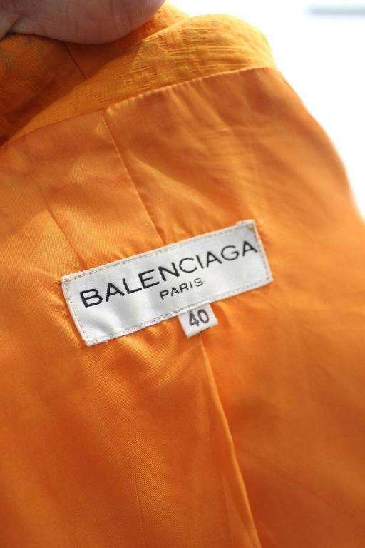 Balenciaga Dress, Jacket and Belt. Orange  Croco Pattern. Size EU 40 5