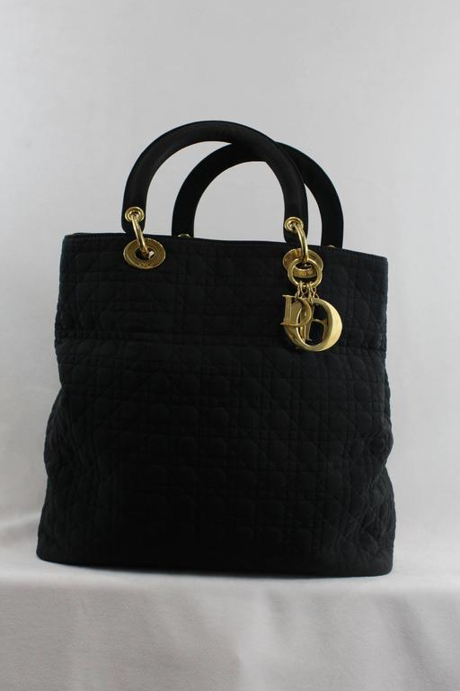 Women's Vintage Nylon Lady Dior Tote Bag For Sale