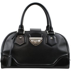 Louis Vuitton Black Epi Leather Montaigne Bowling Bag