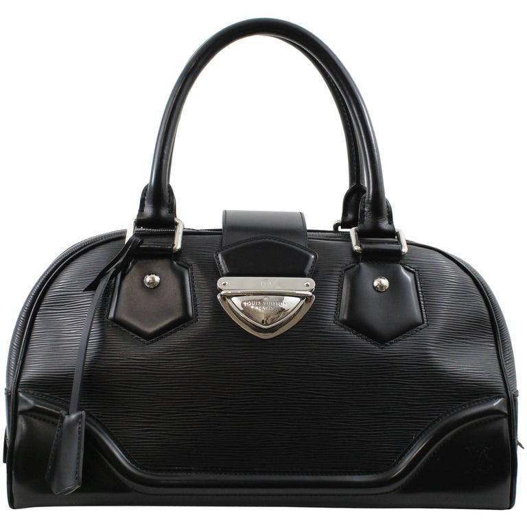 Louis Vuitton Black Epi Leather Montaigne Bowling Bag