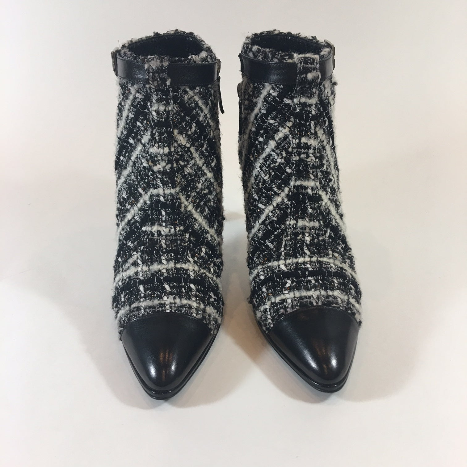 be0dcc2d0ac Chanel Tweed Boucle Ankle Boots at 1stdibs