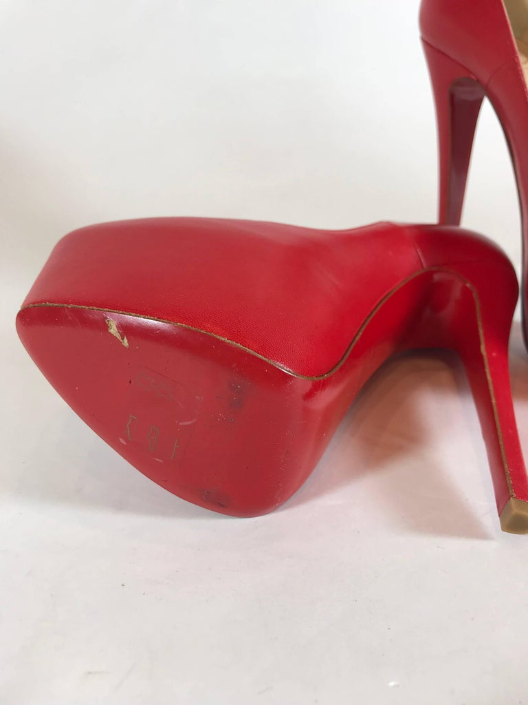 release date: c43f6 57458 Christian Louboutin Daffodil Red Leather Pump