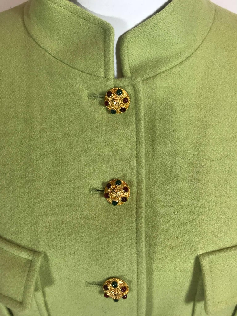 Brown Chanel Wool Jacket For Sale