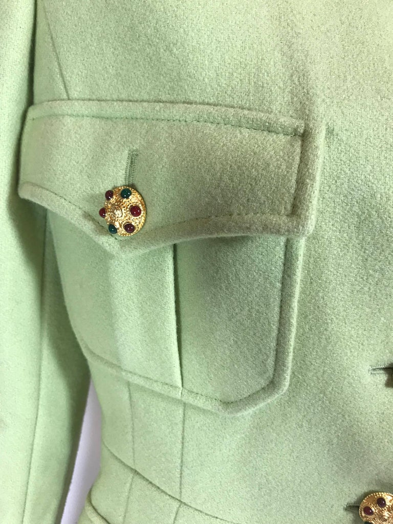 Chanel Wool Jacket In Excellent Condition For Sale In Roslyn, NY