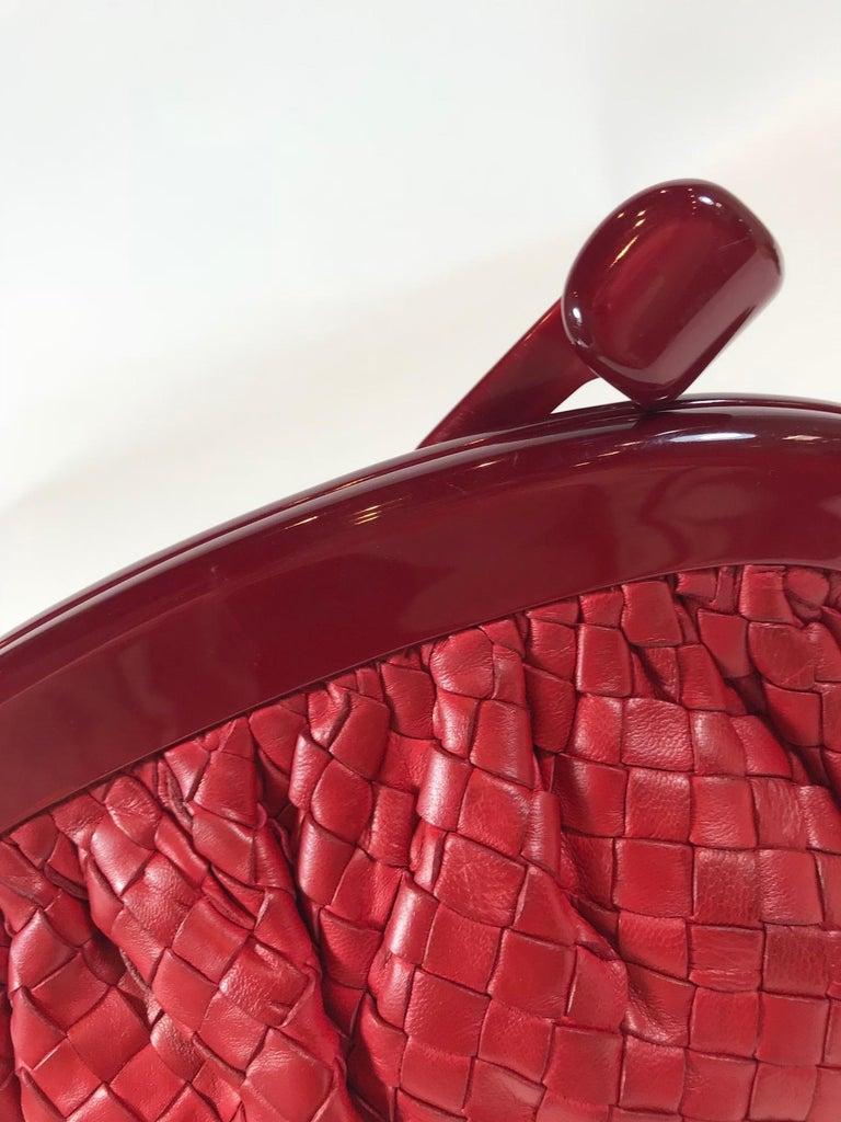 Bottega Veneta Vintage Intrecciato Frame Clutch For Sale 4