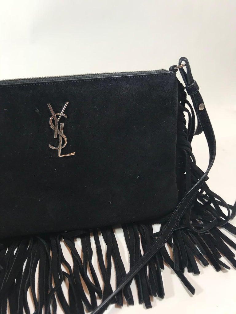 Yves Saint Laurent Suede Crossbody Bag For Sale at 1stdibs e54ea51f59