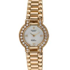 Rolex Ladies Cellini 18K Yellow Gold Diamond Wristwatch, Ref 2253, Circa 1980