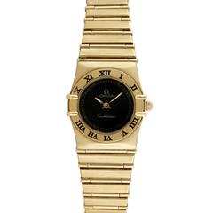 Omega Constellation Ladies 18K Yellow Gold Wristwatch, Ref 79510811