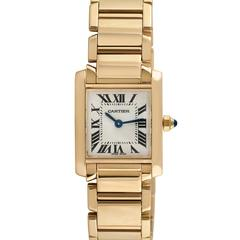 Cartier Tank Francaise Ladies 18k Yellow Gold Wristwatch, Ref 2385, Circa 1990