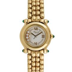 Chopard Happy Sport 18K Yellow Gold Ladies Wristwatch, Ref 27/6150-22