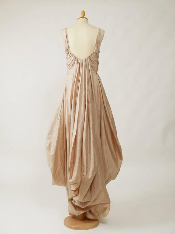 Christian Dior Powder Pink Silk Evening Empire Dress 3