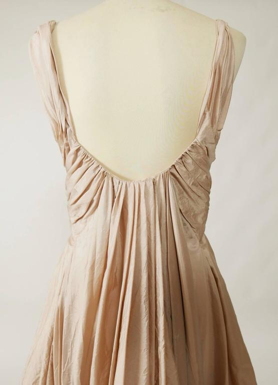 Christian Dior Powder Pink Silk Evening Empire Dress 4