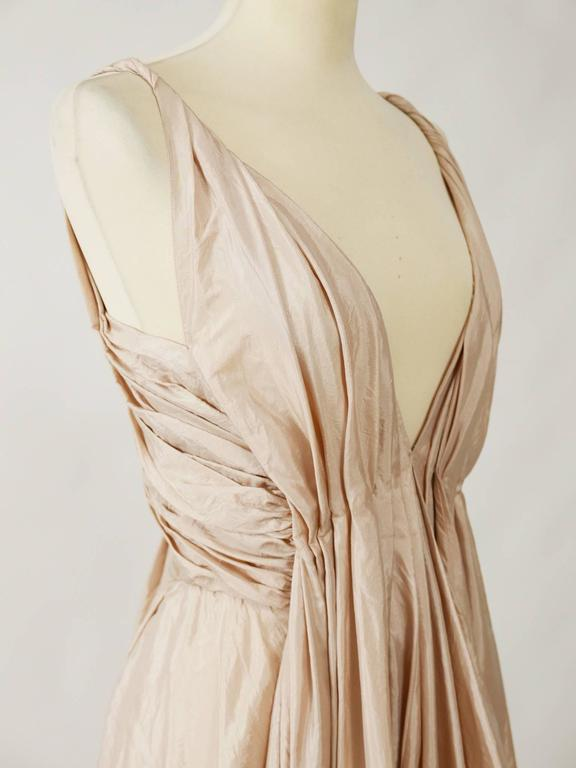 Christian Dior Powder Pink Silk Evening Empire Dress 6