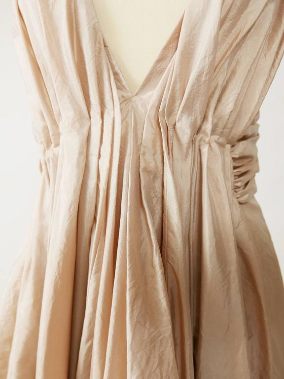 Christian Dior Powder Pink Silk Evening Empire Dress 7