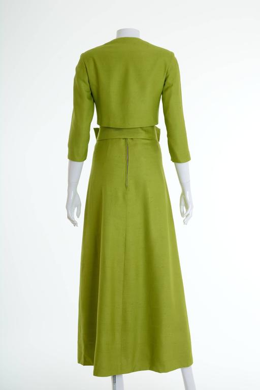 1960s italian couture apple green long suit dress 3 pc for for Apple green dress shirt