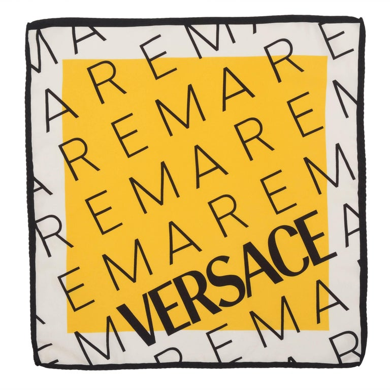 Versace Yellow Foulard With Letters Print 1