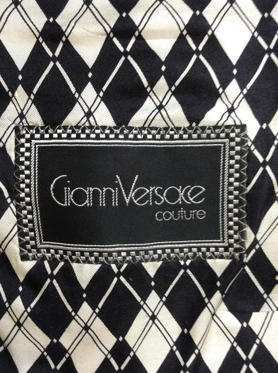 1990s Gianni Versace Rock Couture Silk Blazer Jacket For Sale 4