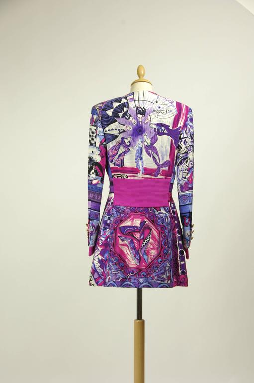 1990s Gianni Versace Rock Couture Silk Blazer Jacket In Excellent Condition For Sale In Milan, IT