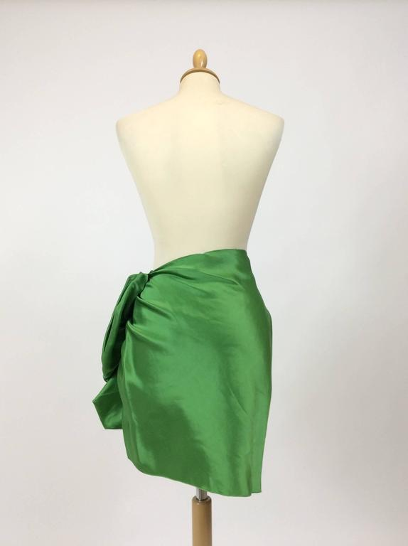 Lanvin Silk Satin Flounce Skirt 4