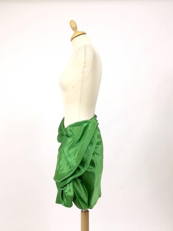 Lanvin Silk Satin Flounce Skirt 3