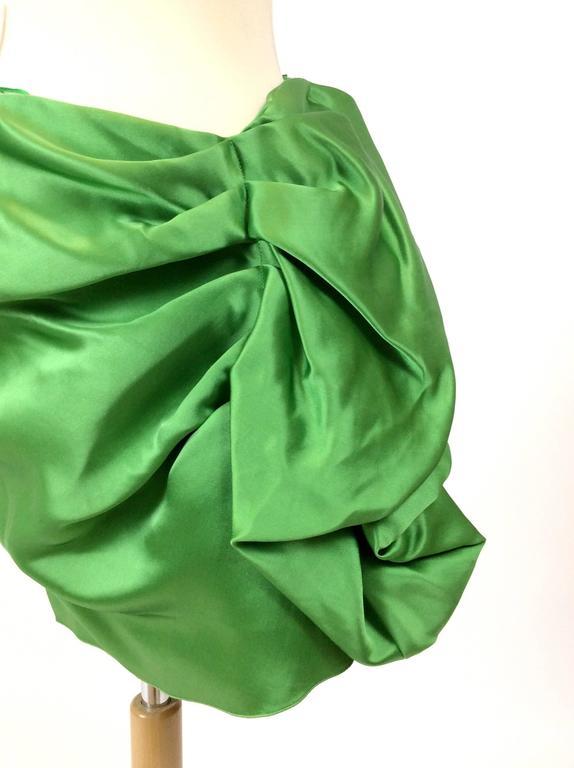 Lanvin Silk Satin Flounce Skirt 5