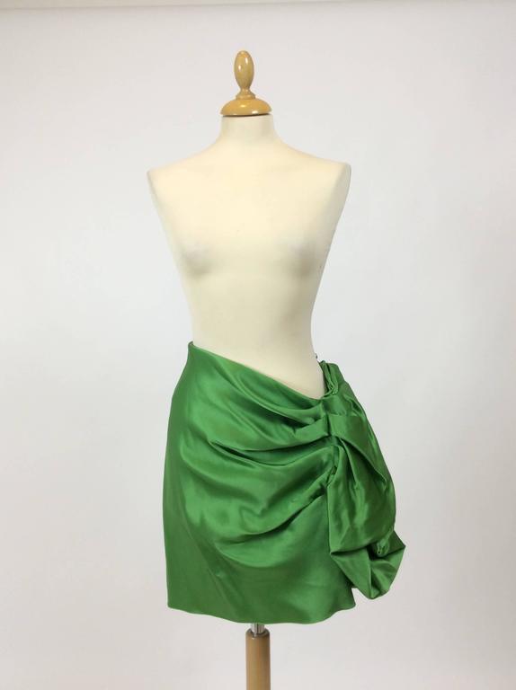 Lanvin Silk Satin Flounce Skirt 2