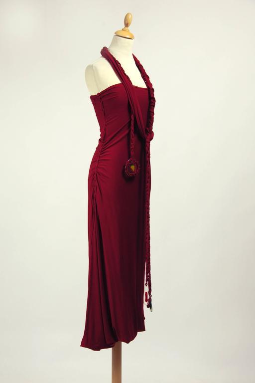 Black 1990s Jean Paul Gaultier Jersey Strapless Dress For Sale