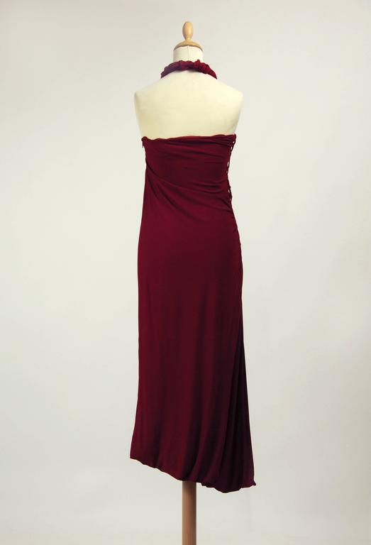 1990s Jean Paul Gaultier Jersey Strapless Dress In Good Condition For Sale In Milan, Italy