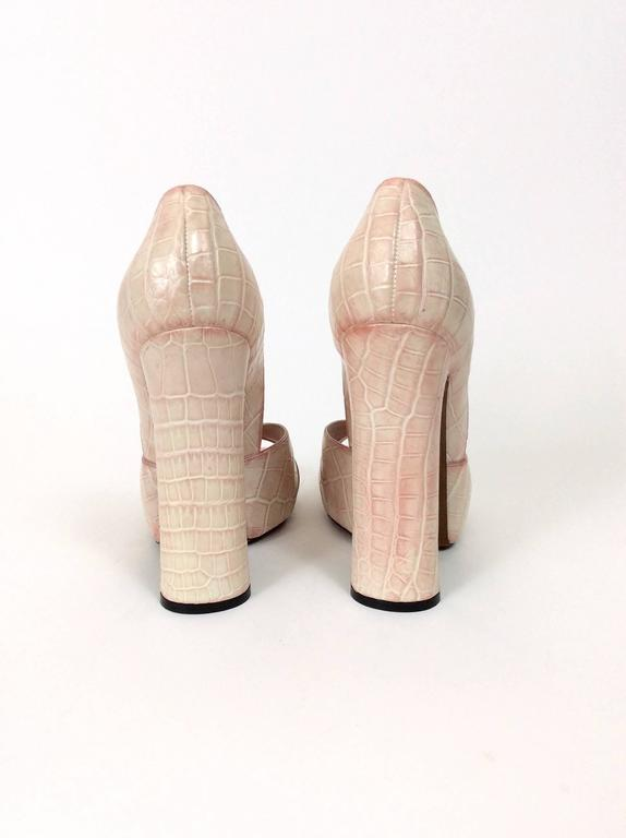 Beige Louis Vuitton Leather Pumps Shoes For Sale