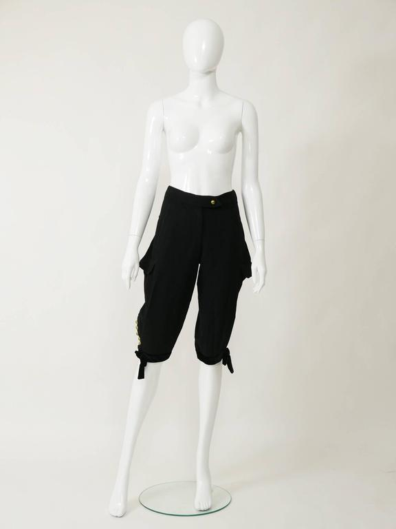 Yves Saint Laurent Rive Gauche Knickerbockers Gaucho Trouser Pants 4