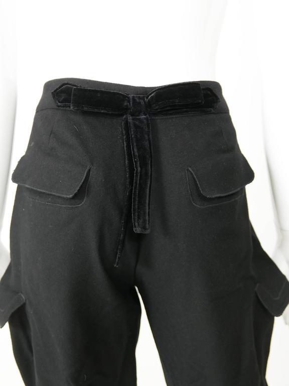 Yves Saint Laurent Rive Gauche Knickerbockers Gaucho Trouser Pants 6