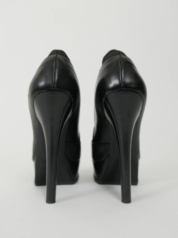 fendi black leather platform high heels ankle boots at 1stdibs